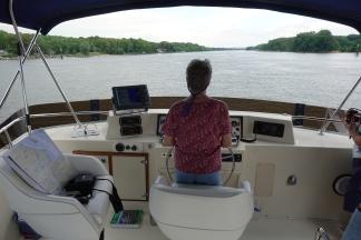 Pat at the wheel